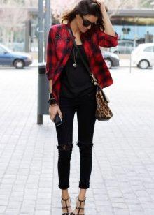 1e6d60de9ed Μαύρα τζιν (90 φωτογραφίες): με τι να φορούν, τόξα και εικόνες ...