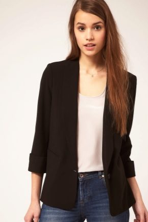 What can women wear with a black jacket?
