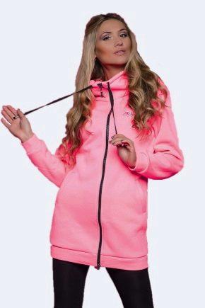 Veste à la mode avec une fermeture à glissière ou à capuche