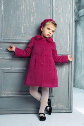 Manteau en laine pour enfants pour filles