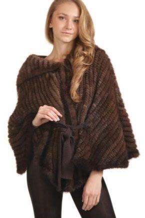 Cappotto di visone lavorato a maglia