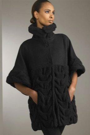 Cappotto lavorato a maglia di filato spesso