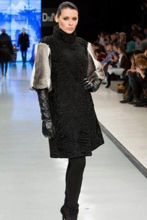 Kotak bulu digabungkan dengan ketinggian fesyen