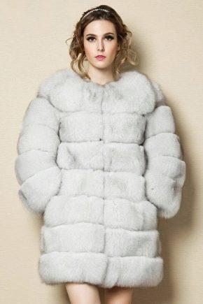 Strat de blană elegant din blană de vulpe