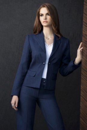 Trajes de mujer azul y azul oscuro.