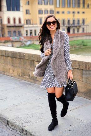 Robe avec des bottes