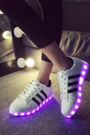 Svetelné tenisky - nová generácia módnej obuvi