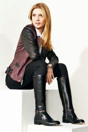 Bottes d'hiver italiennes pour femmes en cuir véritable