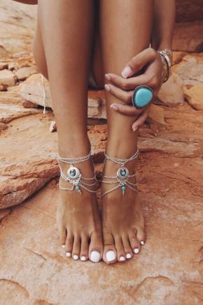 Bracelet de jambe en argent