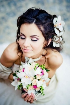 Wedding makeup for brunettes