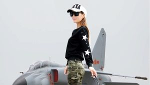 Jean camouflage femme