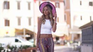 Pantaloni larghi da donna