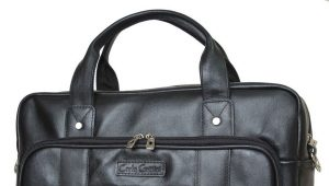 Fashionable leather laptop bag for men and women