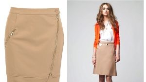 What can I wear with a beige pencil skirt?
