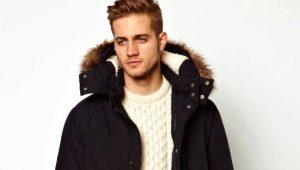 Winter men's jacket large size