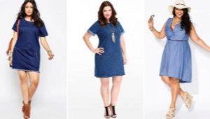 Robes en denim pour femmes obèses