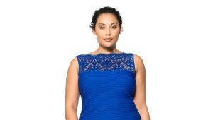 Belle robe dans le sol pour les femmes obèses