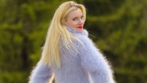Fashionable and beautiful mohair sweater