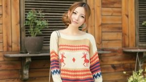 Stylish knitted women's pullover