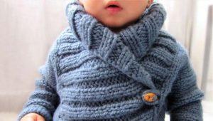 Jachetă tricotată pentru un băiat