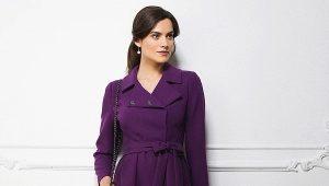 Manteau violet: qui ira avec quoi porter?