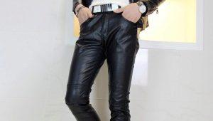 Pantaloni da uomo in pelle