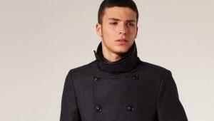 Manteau drapé hommes