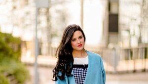 2019 Elegante cappotto blu