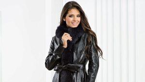 Cappotto in pelle da donna - le tendenze principali della stagione