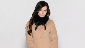 Cappotto da donna con collo di pelliccia