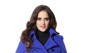 Cappotto blu da donna