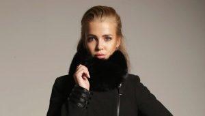 Cappotto invernale in cashmere con collo di pelliccia