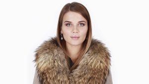 Cappotto invernale con collo di pelliccia