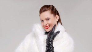 Manteau de fourrure de lapin blanc