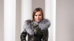 Manteau en peau de mouton avec renard argenté