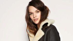 Manteau en peau de mouton style pilote