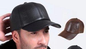 Casquettes de baseball en cuir pour hommes