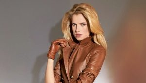 Leather women's suit