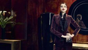 Women's velvet suit