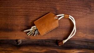Porte-clés pour hommes en cuir