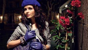 Gants en cuir d'hiver pour femmes