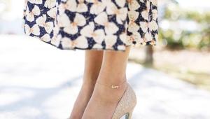Bracelet de jambe d'or