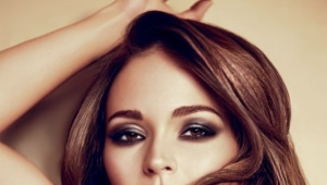 Makeup for brown eyes and dark hair