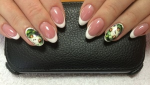 Manucure sur ongles ovales