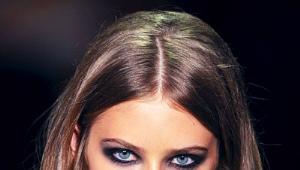 Smoky oči pre modré oči