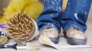Comment frotter la peinture: moyens d'éliminer les taches