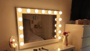 Miroir de maquillage: types et caractéristiques de certains modèles