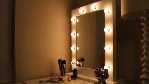 Miroir de maquillage éclairé: comment le faire soi-même