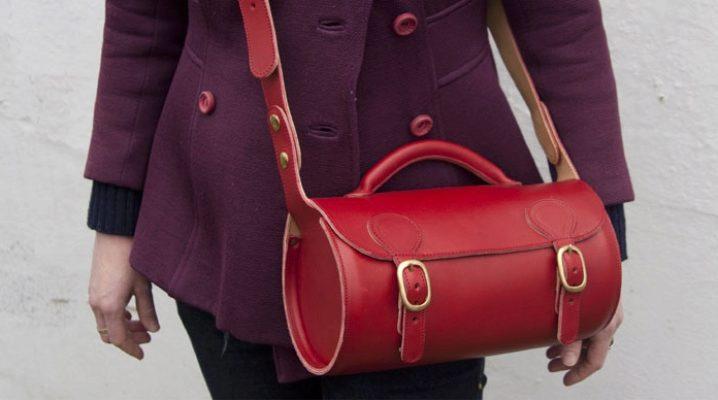 Bolsos de cuero hechos a mano para hombres y mujeres.