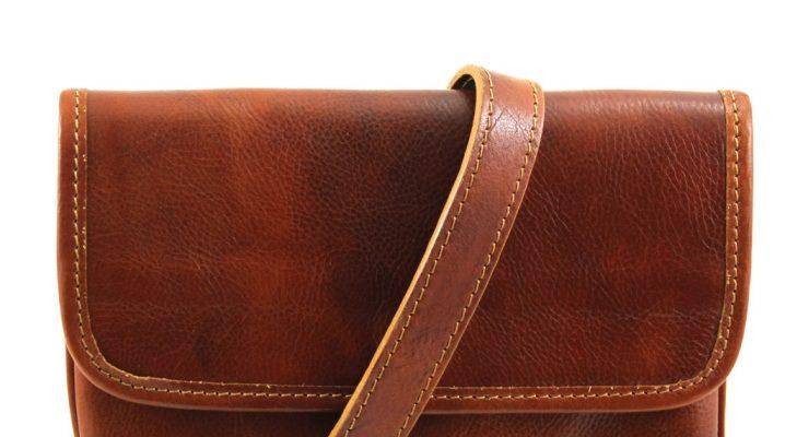 Bolsos de los hombres de moda a través de un hombro de cuero genuino